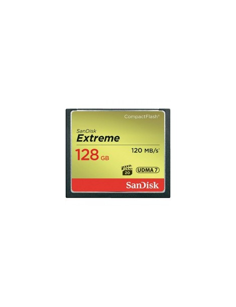 SanDisk Extreme 128GB CompactFlash Memory Card 120MBs