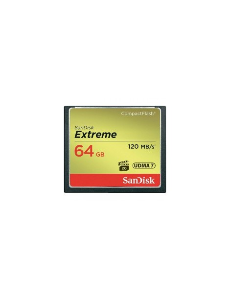 SanDisk Extreme 64GB CompactFlash Memory Card 120MBs
