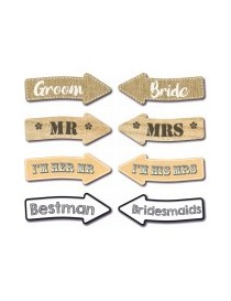 Photo Booth Arrow Set of 8 Wedding
