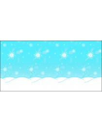 Winter themed 1.2mx 3.6m paper background.