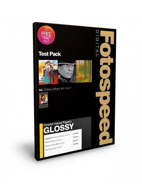Fotospeed FineArt GLOSSY Test Pack A4 (12)