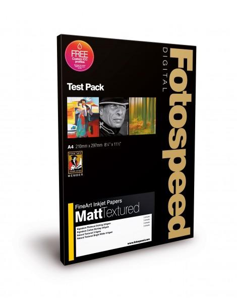 Fotospeed FineArt Matt Textured Test Pack A4 (12)
