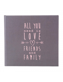 """Goldbuch """"All You Need Is Love"""" Grey Guestbook Album"""