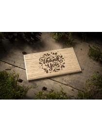 Wooden oak business cards 90x50mm