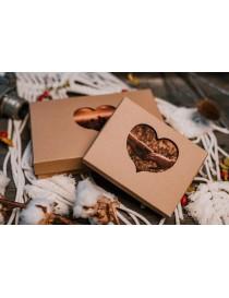 Cardboard photo case with a heart motif 10×15cm/6x4 inch photos